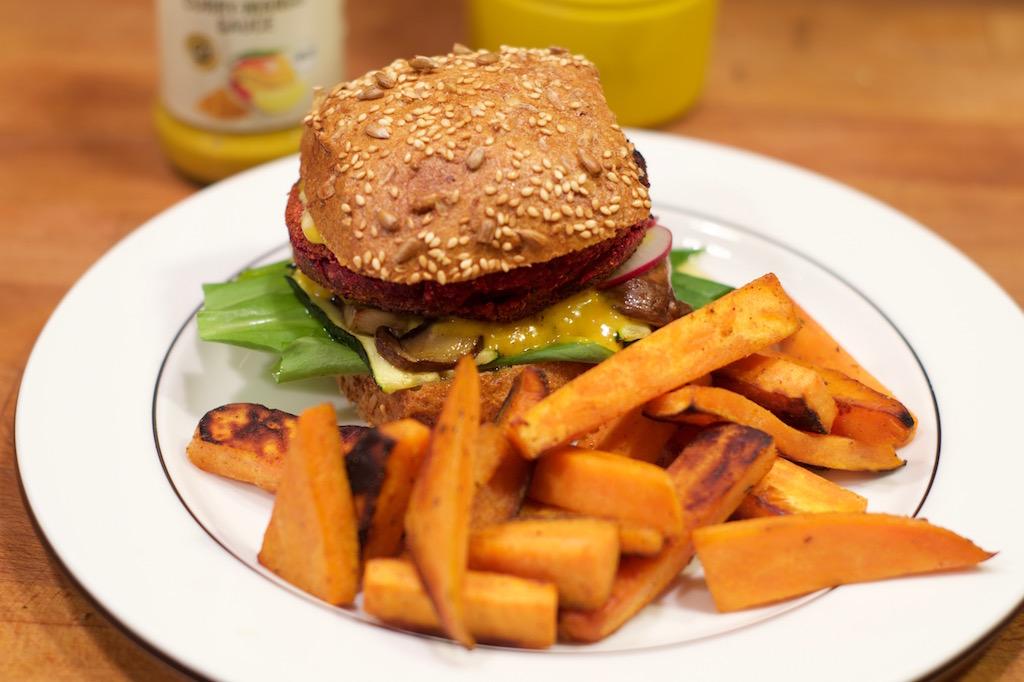 Veggi-Bärlauch-Burger