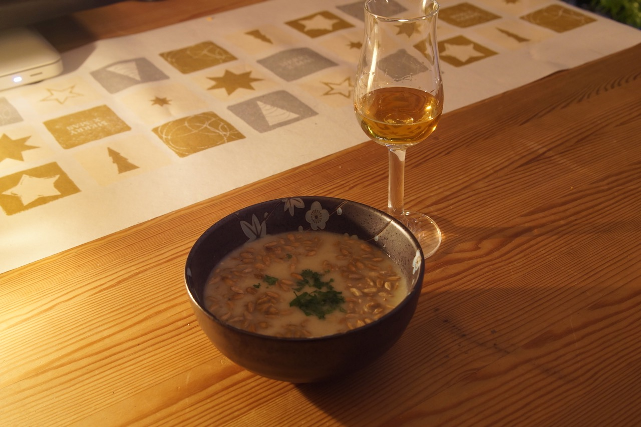 Stilton-Salbei-Suppe mit Whisky 1848